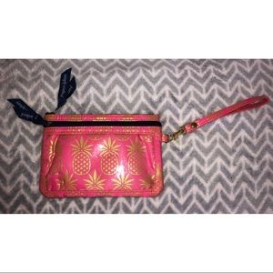 Simply Southern Pink Pineapple Wristlet